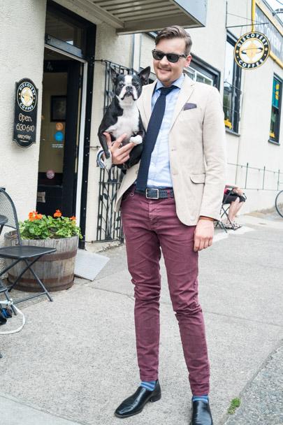 Dog and guy-4064